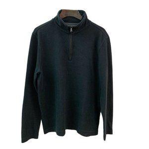 Banana Republic Black Long Sleeve 1/4 Zip Pullover